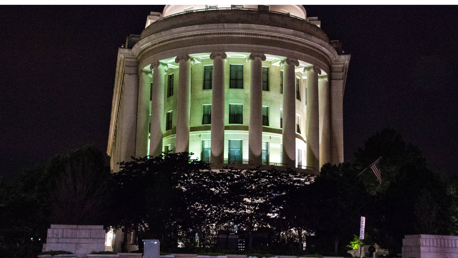 FTC  building at night